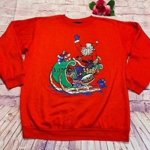 Vintage Andover Womens Medium Christmas Sweatshirt